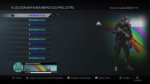 Playstation 3 Upar Conta Call Of Duty Ghosts Online Mercado Livre