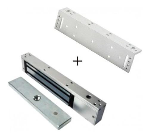 Cerradura Electromagnética 600 Libras Siera + Soporte L