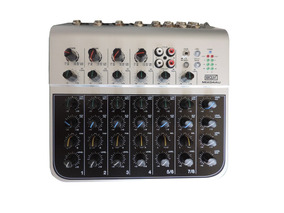 Mesa De Som Mixer Boxx Mix04au 6 Canais Com Interface Usb