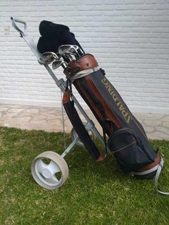 Juego De Palos De Golf Spalding Con Bolsa Y Carrito