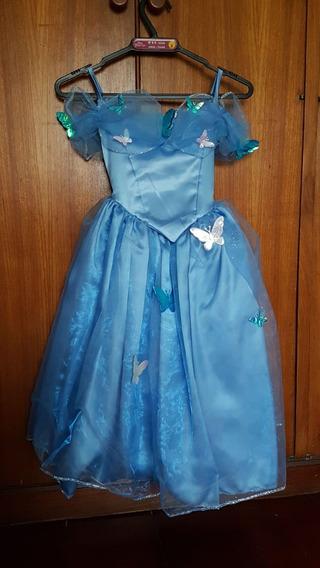 Vestido Azul Disney Princesas - Tam 6-8 Anos