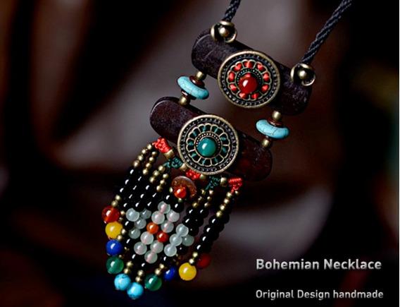 Collar Boho Ethnic Vintage Fashion