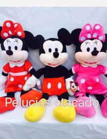 Minie Vermelha Minie Rosa E Mickey De Pelucias 45 Cm