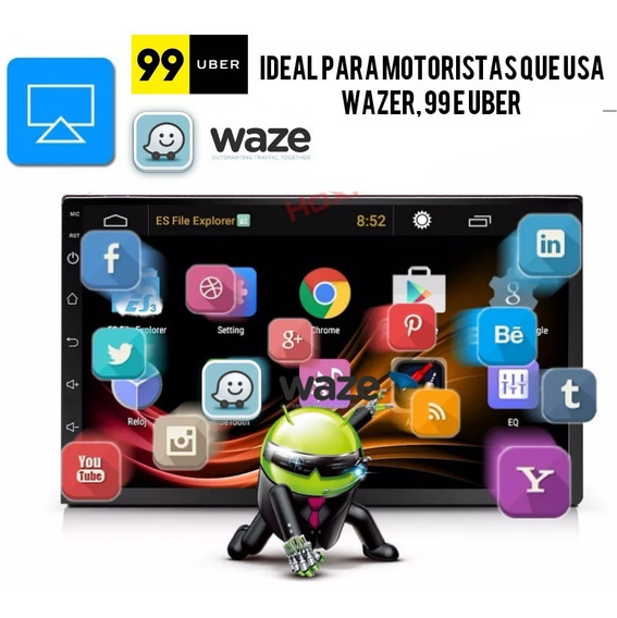 Multimídia Android 8.1 Para Uber Waze Tunein Google Play