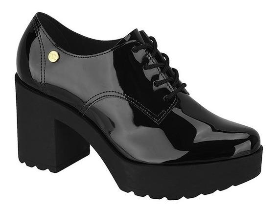Sapato Moleca Oxford Feminino Salto Grosso Tratorado5647.211