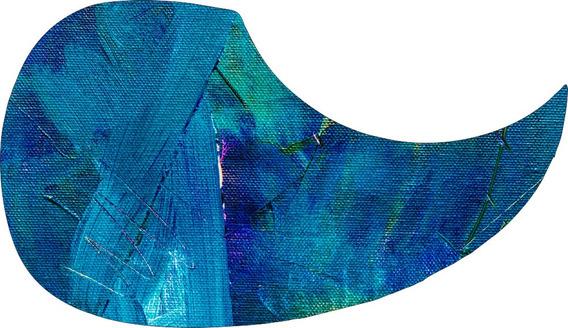 Escudo Palheteira Resinada Violão Aço Expressionist Paint 2