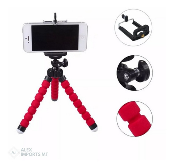 Tripe Para Celular E Camera Flexivel Tripé De Mesa Kit Youtu