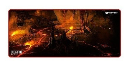 Mouse Pad Gamer C3 Tech Doom Fire - Extented - 700 X 300mm