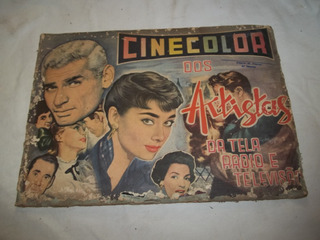 Album De Figurinhas Cinecolor Artistas Radio E Tv Incompleto