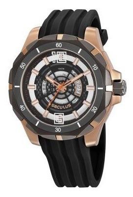 Relógio Caixa Grande Masculino Seculus Garantia 02 Anos