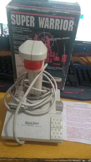 Joystick Pc Super Warrior - Simulador De Voo - Antigo