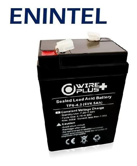 Enintel- Batería Pila Recargable 6v 4.5ah
