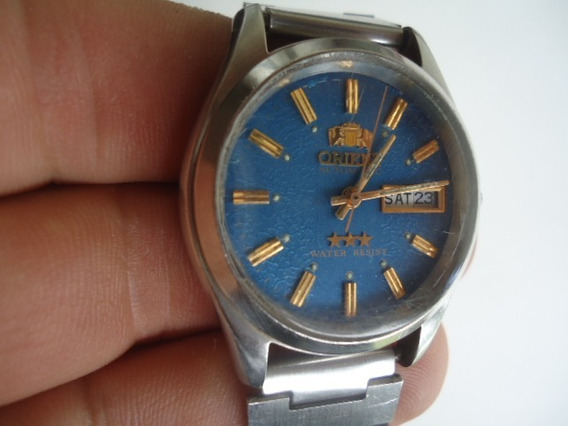 Relógio Orient Automático Azul Conservado