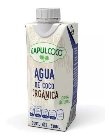 Agua De Coco Orgánica Acapulcoco 330ml