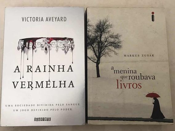 Livros - A Rainha Vermelha + A Menina Que Roubava Livros