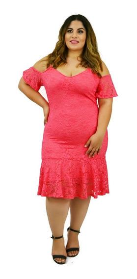 Vestido Talla Extra De Encaje Calidad Premium! V4133
