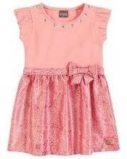 Vestido Infantil Brandili Mundi Acetinado Tam 2