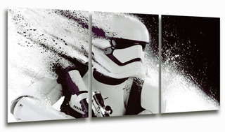 Cuadro Triptico Stormtrooper Star Wars 90x40cm