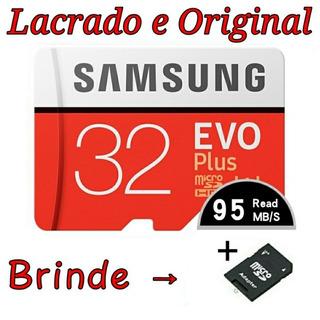 Cartão Micro Sd 32gb Classe 10 Original Samsung