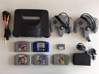 Promoção! Nintendo 64 + 2 Controles + 5 Games + Frete Grátis