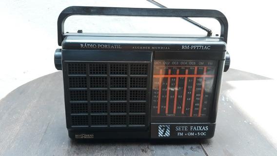 Rádio Portátil Usado Motobras Modelo Rm-pft71ac