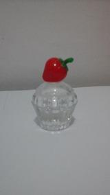 Enfeite Vidro Perfume Morango