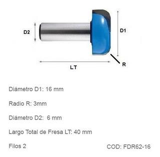 Fresa Cnc De Desbaste Radial 16mm Diámetro