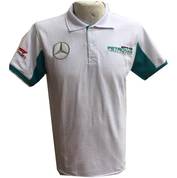 Playera Mercedes Benz Petronas Blanca