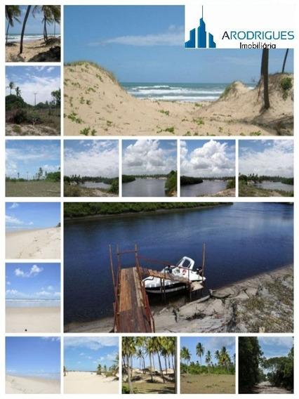 Terreno Em Mangue Seco, Jandaira, Área Na Linha Verde, Terreno Frente Praia - Te00070