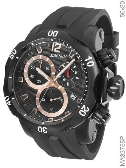 Relógio Magnum Masculino Preto Ma33755p