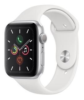 Apple Watch Serie 5 44mm Silver Prata S5 Imediato Lacrado