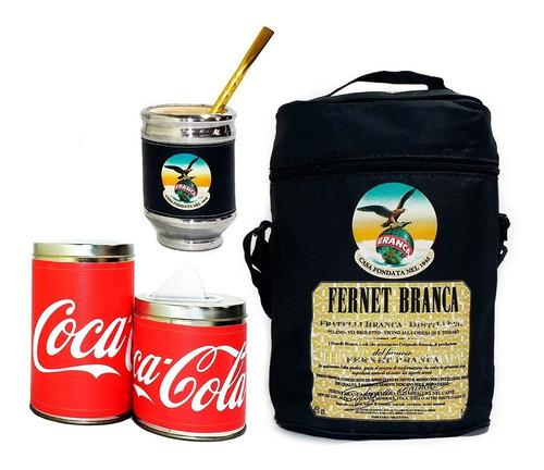 Imagen 1 de 5 de Equipo De Mate Sin Termo Fernet Coca Cuero Set Kit Matero
