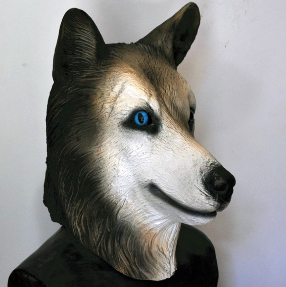 Mascaras Latex Lobo Perros Husky Disfraces Halloween Adulto