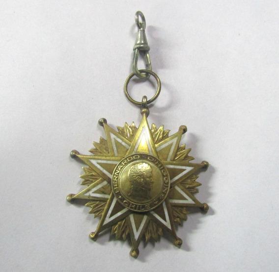 Chile 1956 Medalla Condecoracion Bernardo Ohiggins Al Merito
