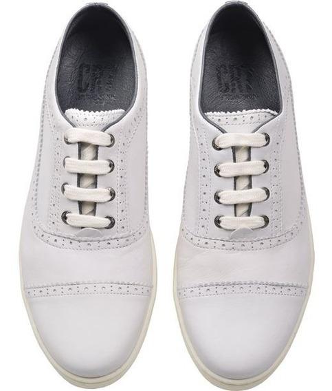 Tenis Sneaker Brogue Cr7 Casual Zapatos Para Hombre Blancos