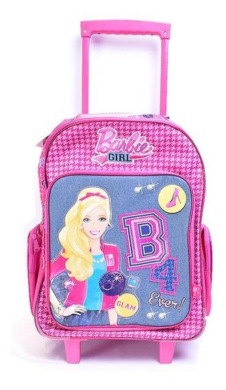Mochila Barbie Con Ruedas 20 Pulgadas Escolar Nena