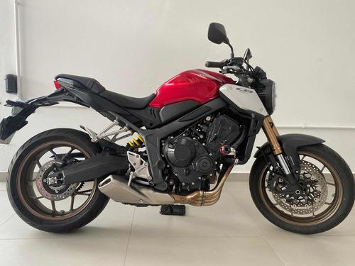 Honda Cb 650 R Abs Un Dono 2265 Km Estudo Troca