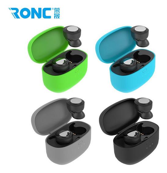 Azul Bluetooth Headset 5.0 Mini Ear Som Headset Sem Moviment