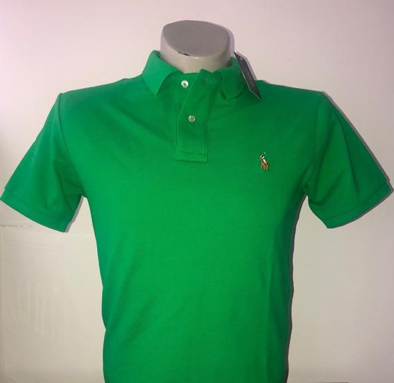 Playera Camiseta Casual Polo Color Verde Original