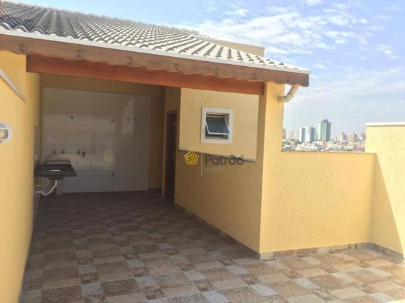 Cobertura Com 2 Dormitórios À Venda, 50 M² Por R$ 330.000,00 - Vila Camilópolis - Santo André/sp - Co0184