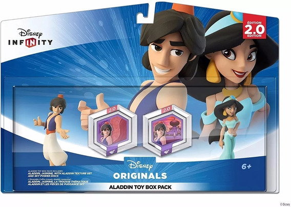 Disney Infinity 2.0 Pack Toy Box Set Aladdin E Jasmine