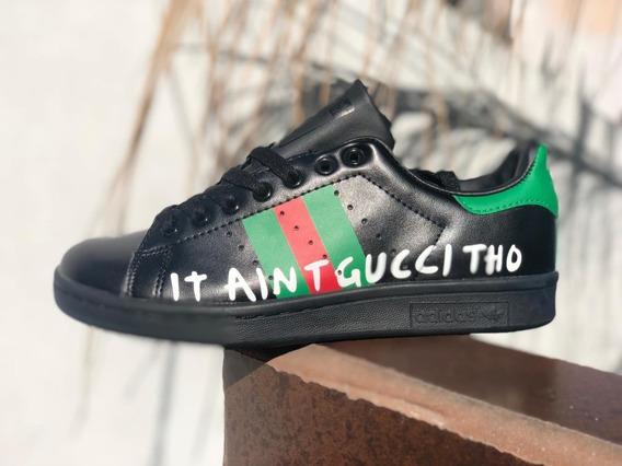 Tenis adidas Stan Smith Gucci Tho Negro Llega De 1 A 2 Dias