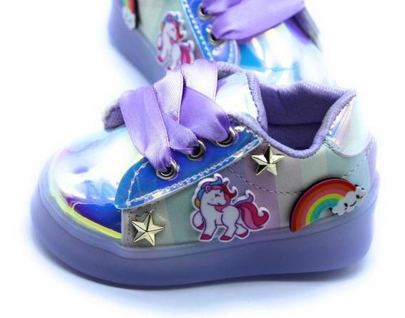 Teni Luces Led Arcoiris Unicornio Estrellas