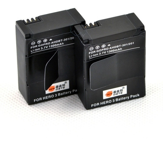 2 Unidades Bateria Ahdbt-302 Go Pro Hero3+ Gopro Hero 3
