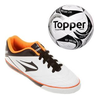 Tênis Topper Futsal Frontier + Bola Futsal
