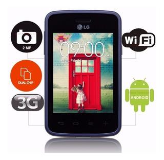 Smartphone Lg L30 Sporty Dual (lg-d125f) Preto/azul Lacrado