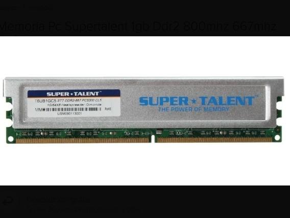 Memoria Ram Pc Ddr2 512 Mb Disipador Super Talent