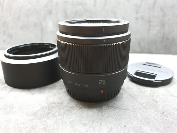 Panasonic Lumix G 25mm F 1.7 Asph Lente Pronta Entrega