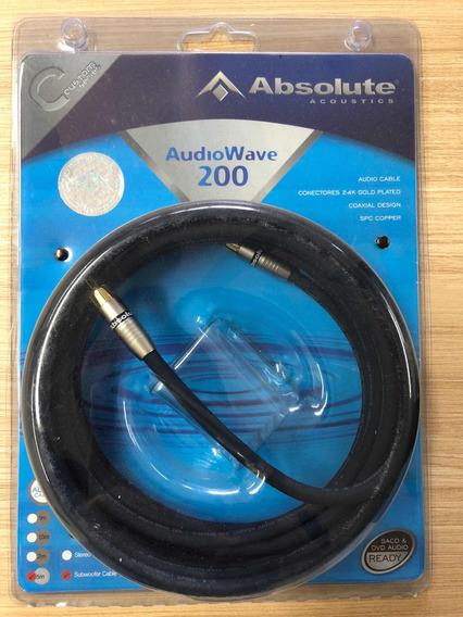 Cabo De Som - Audiowave200 - 5m - Subwoofer Cable - Absolute