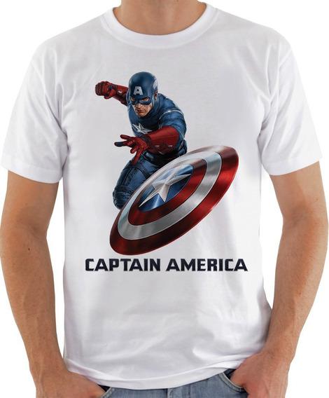 Camiseta Unissex - Capitão America Escudo 3d-624
